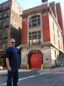 That's me in front of the Ghostbusters firehouse!