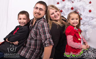 Christmas Family Portraits by Abanathy Photography, LLC