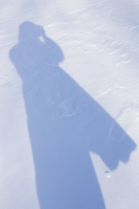 Recent shot of my shadow capturing snow shots!