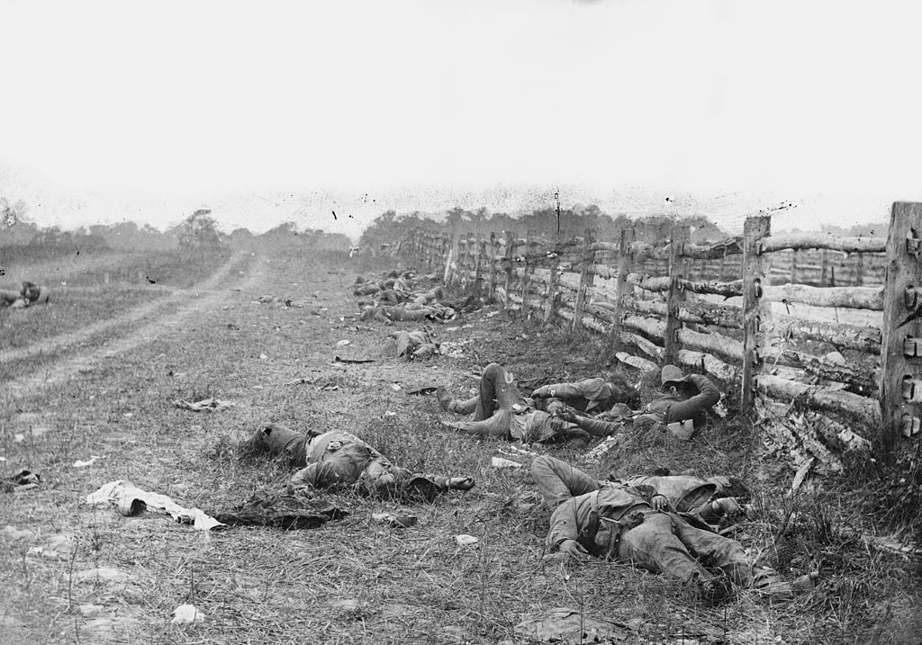 The field at Antietam, American Civil War by Alexander Gardner, 1862. Courtesy of the Library of Congress