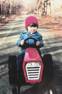 Me on my tractor in the early 80s. My favorite Christmas present of that year!