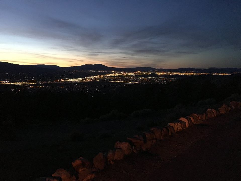 Reno, at night, from near the top of Geiger Grade.