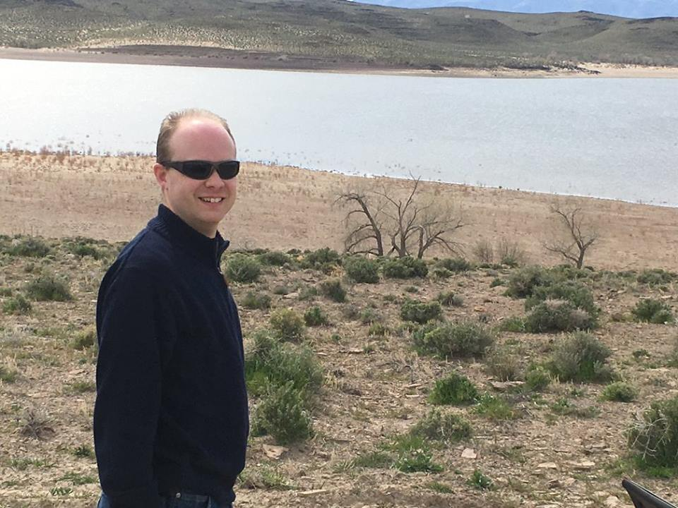 Me in front of Lahontan Reservoir. Twas a bit windy that day.